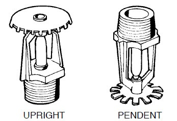 Foam water sprinkler system incontrolfp conventional sprinklers heads are available for either upright or pendent installation a heat sensitive element consisting of either a fusible link or mozeypictures Images